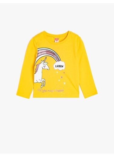 Koton Kids Koton Sarı  T-Shirt Sarı